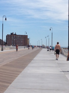 The new boardwalk at Long Beach. Just reopened!