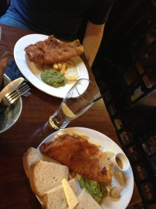 "Fish & Chips and ""The Cod Father"" at an English Pub"