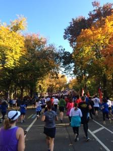 Running toward the finish