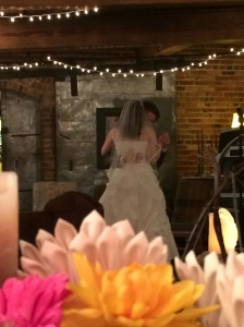 Love this shot I got of the first dance.