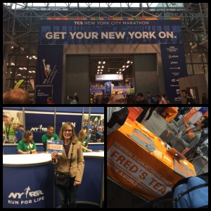 At the TCS NYC Marathon Expo at Jacob Davits center.